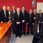 Sr. Presidente con los homenajeados veterinarios jubilados