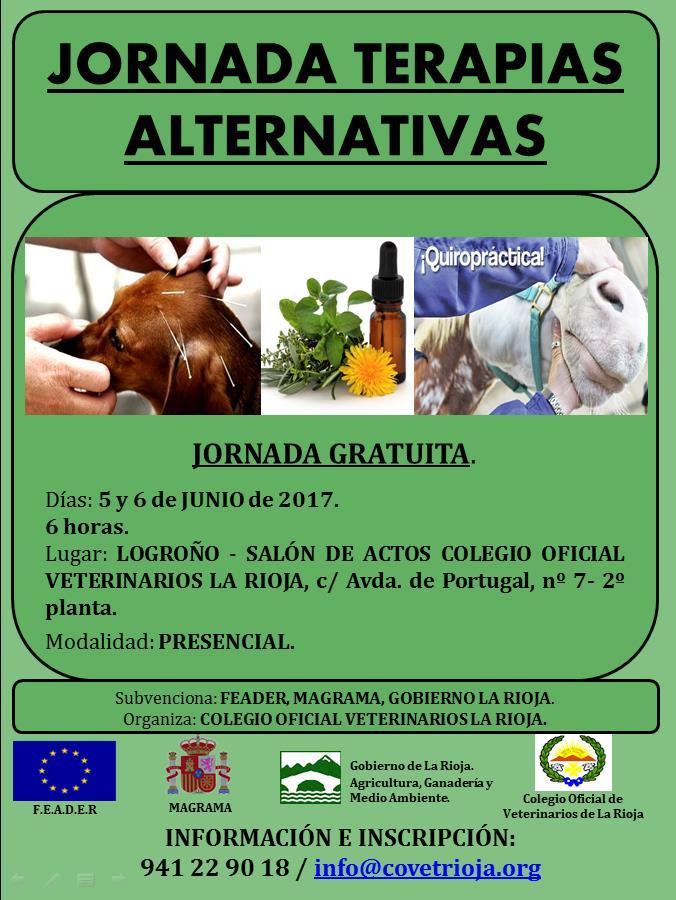 Cartel JORNADA TERAPIAS ALTERNATIVAS